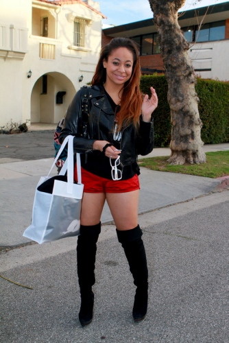 Raven Symone's red shorts