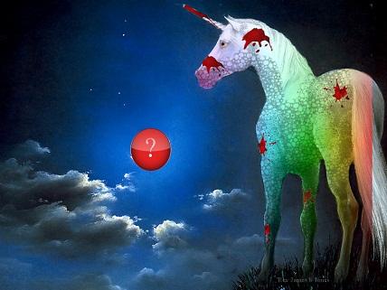 rainbow zombie unicorn