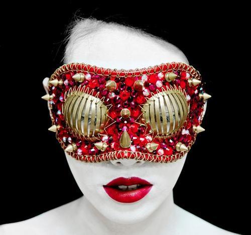 studded face mask
