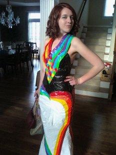 duc tape dress