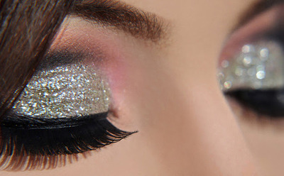 smokey disco ball eye makeup