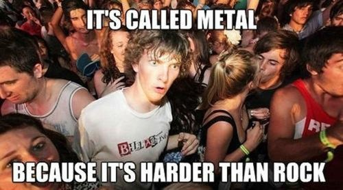 metals harder than rock