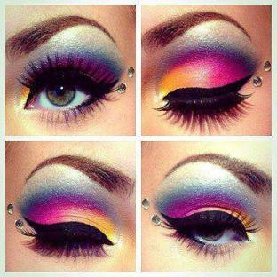 rainbow of eyes