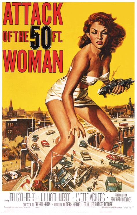Attack of  the fifity foot women movie poster