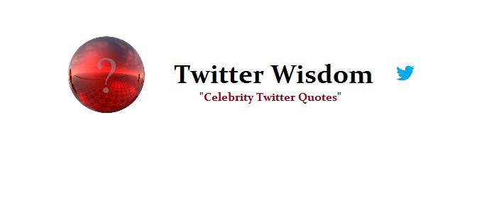 twitter wisdom