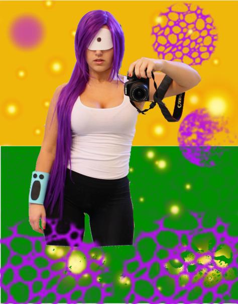selfie Leela cosplay