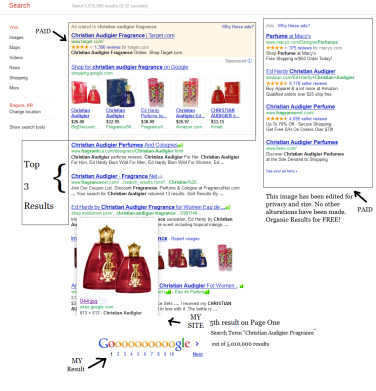 Products on the site began to land in 1st page searcg results