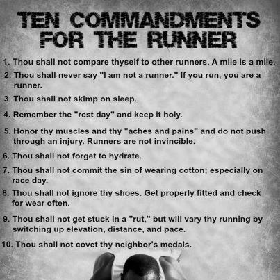 Running Commandments