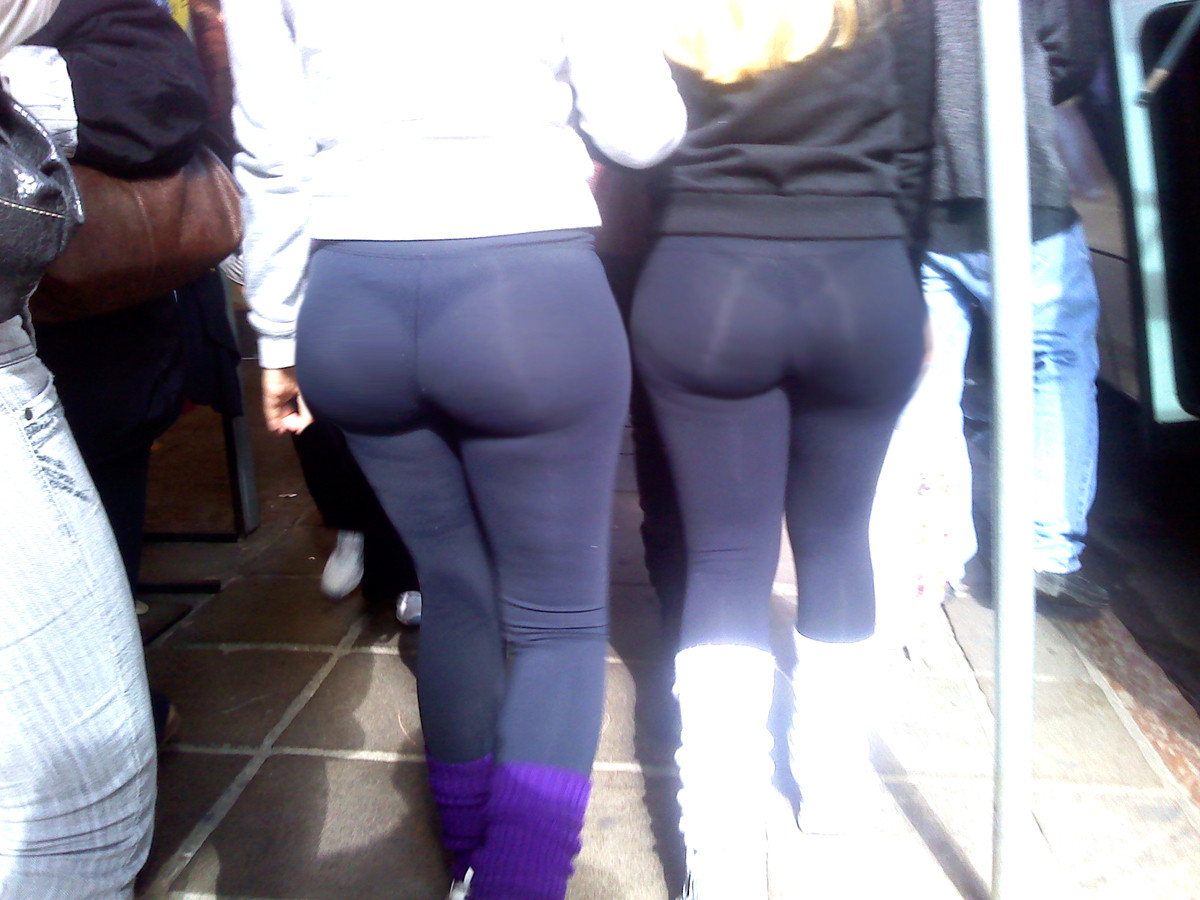 Sexy ass in see through yoga pants