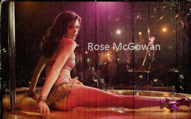 Charming Rose mcgowan stripper